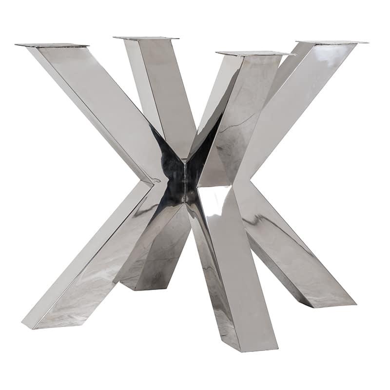 6066 LEG - Eettafel poot X-leg Bodhi Silver