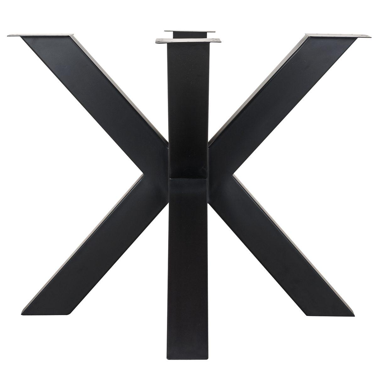 6067 LEG - Eettafel poot X-leg Bodhi Black