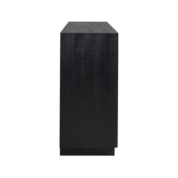 6500 BLACK - Dressoir Oakura 3-deuren (Zwart)