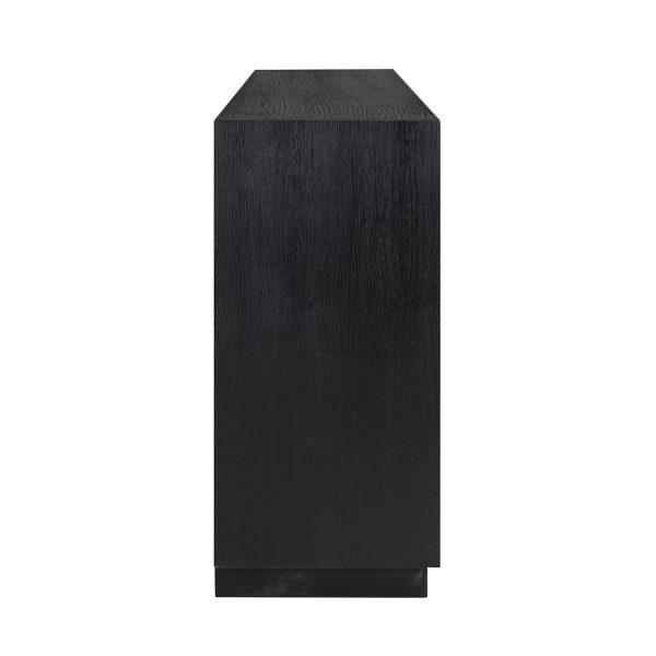 6501 BLACK - Dressoir Oakura 4-deuren (Zwart)