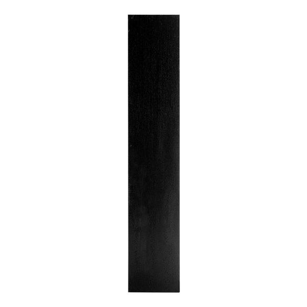 6516 BLACK - Boekenkast Oakura 2-deuren smal (Zwart)