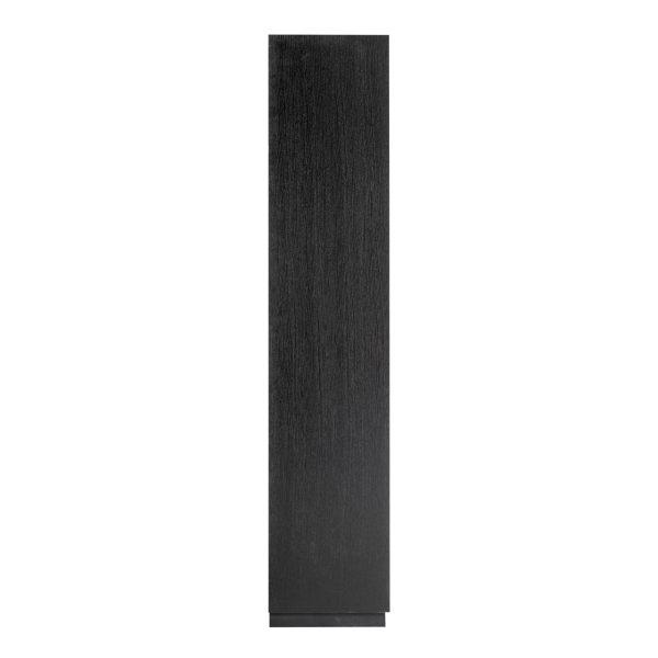 6520 BLACK - Dichte kast Oakura 2x2-deuren (Zwart)