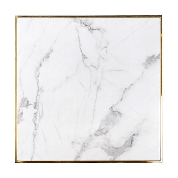 7224 - Eettafel Osteria square 70x70 (Goud)