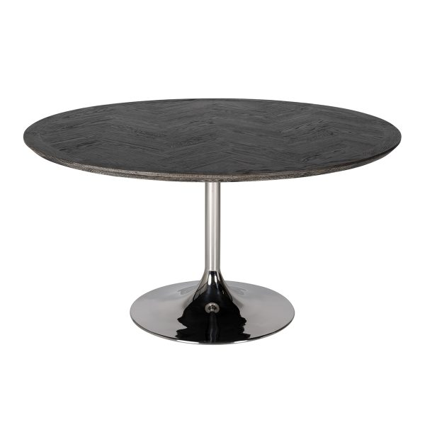 7411 - Eettafel Blackbone silver 140Ø (Zilver)