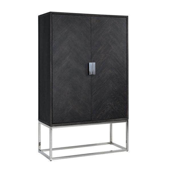 7427 - Wandkast Blackbone silver 2-deuren laag (Zilver)