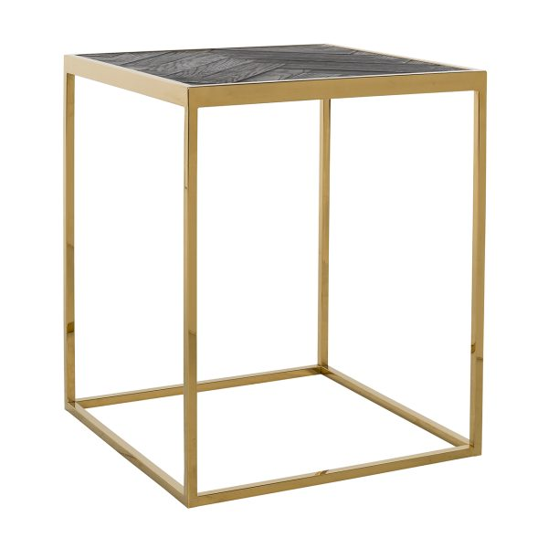 7432 - Bijzettafel Blackbone gold 50x50 (Goud)