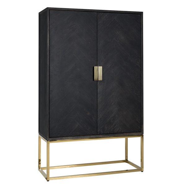 7437 - Wandkast Blackbone gold 2-deuren laag (Goud)