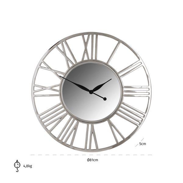 -KK-0062 - Klok Danell rond zilver (Zilver)
