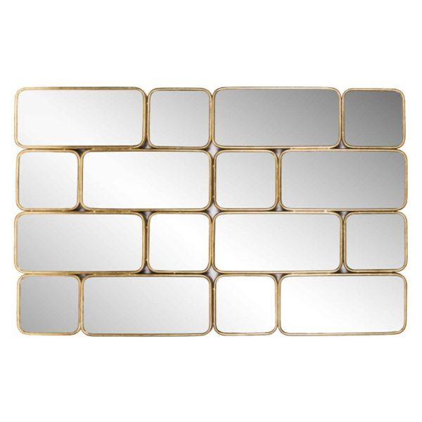 -MI-0038 - Spiegel Birche met 16 spiegels (Goud)