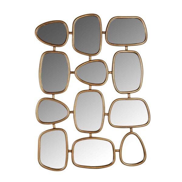 -MI-0040 - Spiegel Jeff met 12 spiegels (Goud)