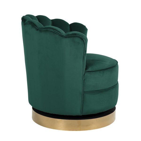 S4442 GREEN VELVET - Draaifauteuil Mila Green Velvet (Quartz Green 501)
