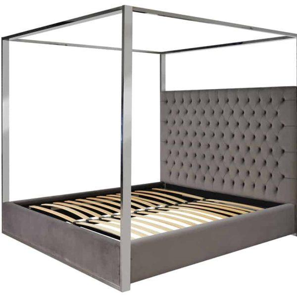 S6000 STONE VELVET - Bed Victoria 180x200 excl. matras (Quartz Stone 101)