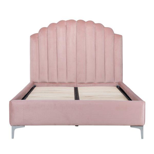 S6001 PINK VELVET - Bed Belmond 120x200 excl. matras (Quartz Pink 700)