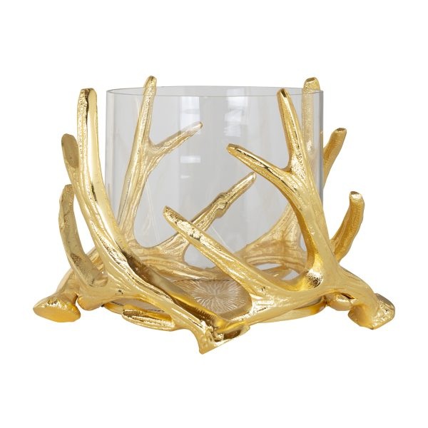 -WL-0049 - Hurricane Harvey gold with antler small (Goud)