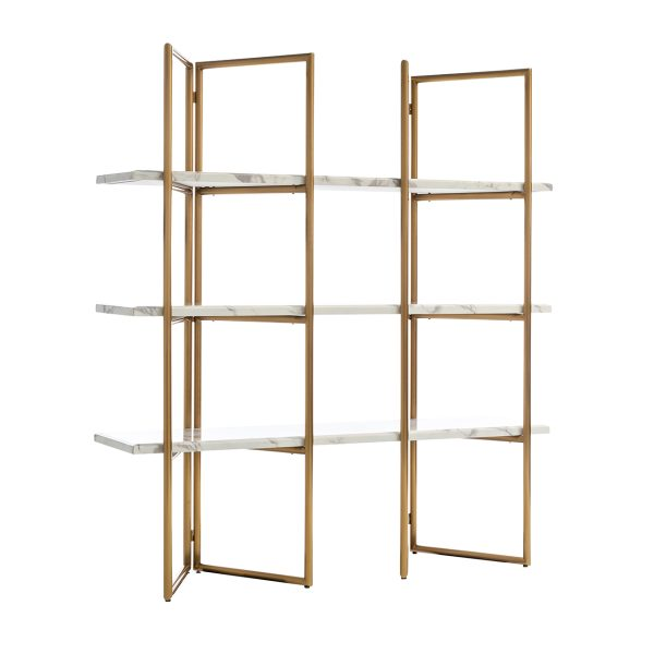 7257 - Wandkast Lagrand Gold met 3 planken  (Goud)