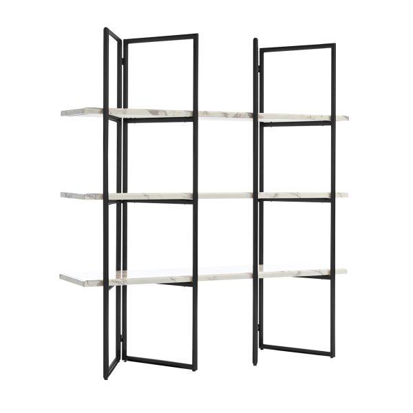 7258 - Wandkast Lagrand Black met 3 planken  (Zwart)