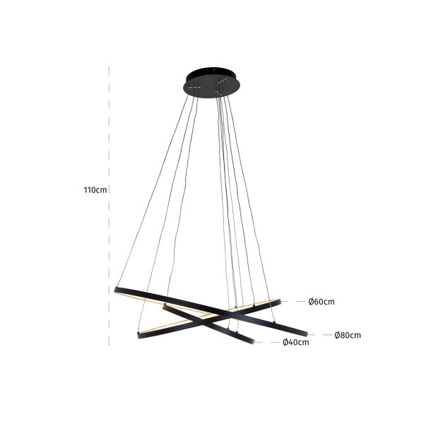 -HL-0123 - Hanglamp Amira black (Zwart)