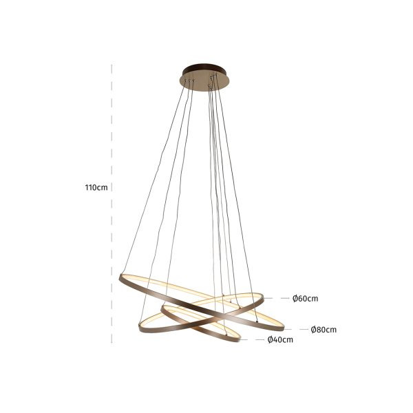 -HL-0124 - Hanglamp Amira goud (Goud)