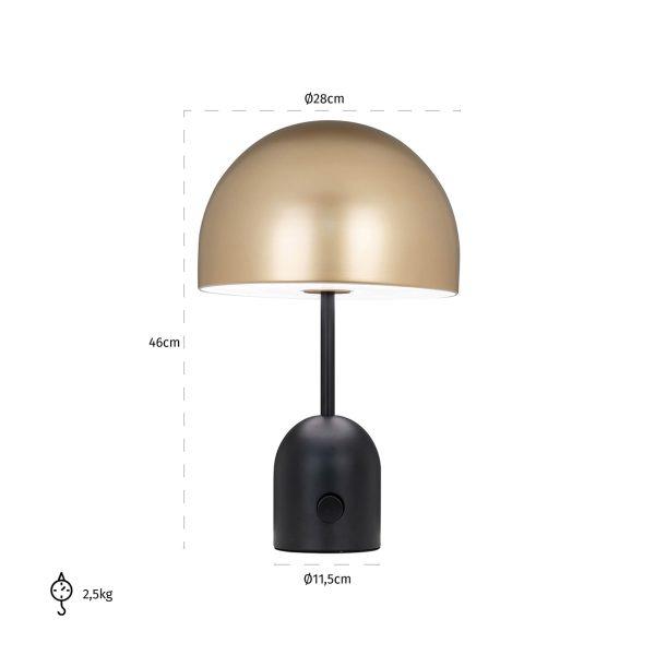 -LB-0092 - Tafellamp Elvina (Goud)