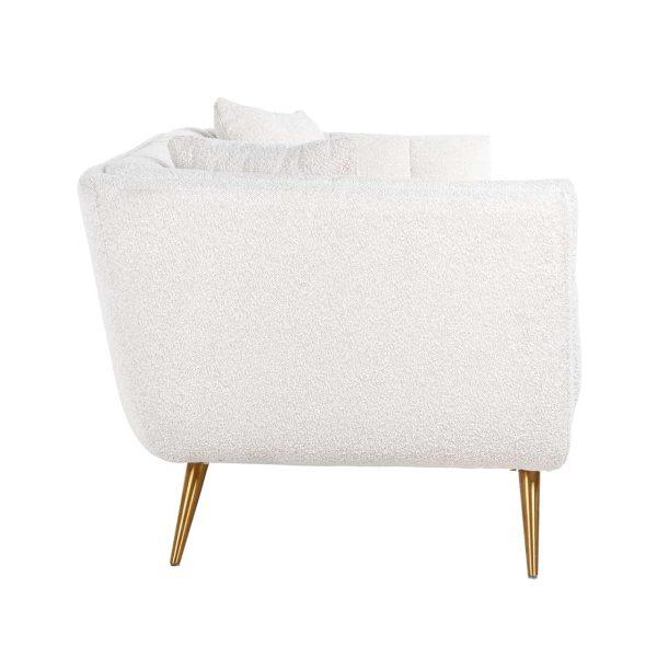 S5126 WHITE BOUCLÉ - Bank Huxley White Bouclé / Brushed gold (Copenhagen 900 Bouclé White)